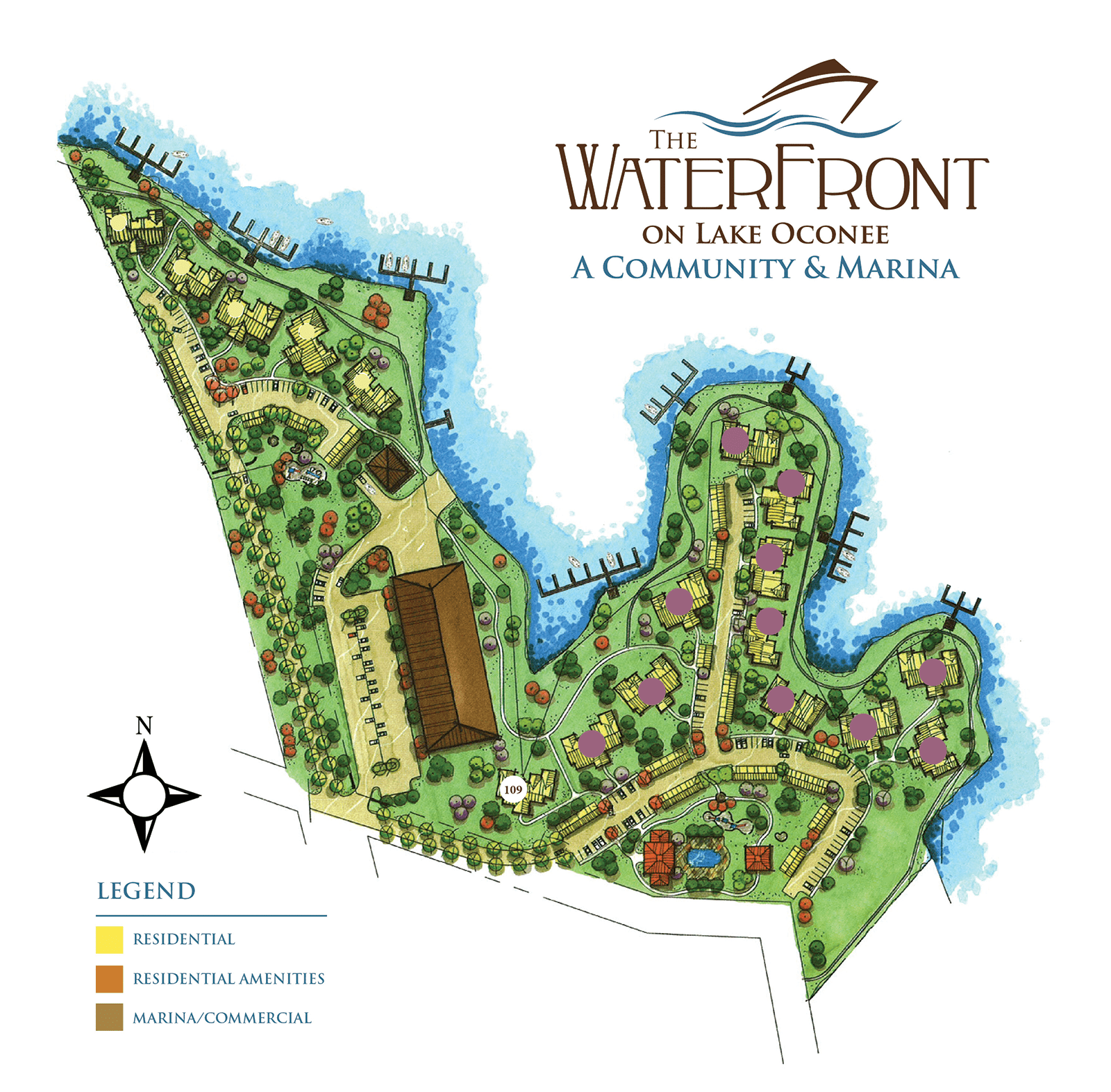 siteplan the waterfront on lake oconee